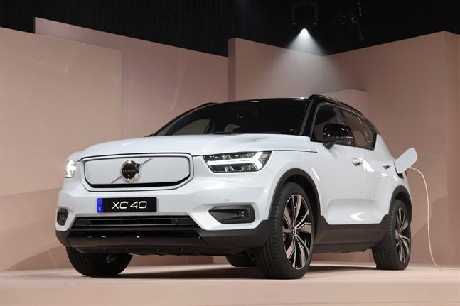 Den helt eldrivna varianten av XC40 visades upp i Los Angeles för ett år sedan. Nu har modellen satts i produktion på Volvo Cars fabrik i belgiska Gent. Arkivbild.