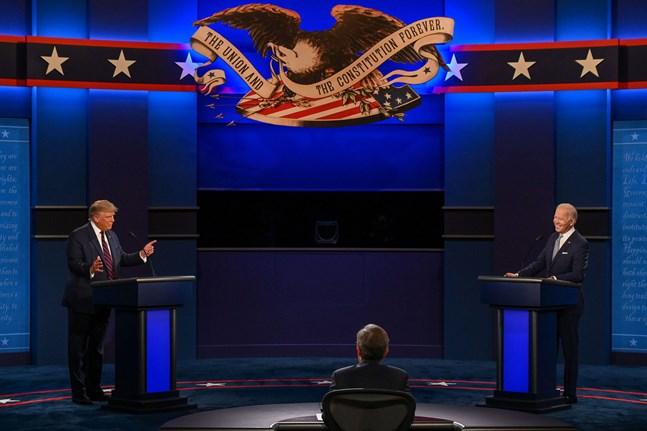 Donald Trump och Joe Biden möttes i tv-studion natten till onsdagen, finländsk tid.
