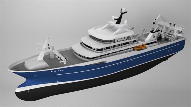 Fiskefartyget är det största som det danska varvet byggt..