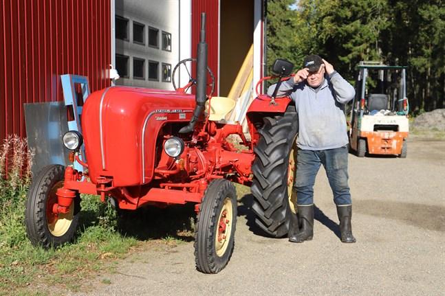 Porschen är en favorit bland traktorerna Stig Granskog äger.