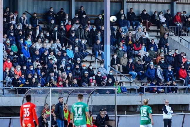 Jaros match mot KPV den 4 oktober 2020 fick ännu spelas inför publik.