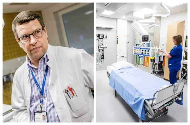 Det finns 13 intensivvårdsplatser på Vasa centralsjukhus. Platserna kan vid behov utökas med hjälp av specialarrangemang.