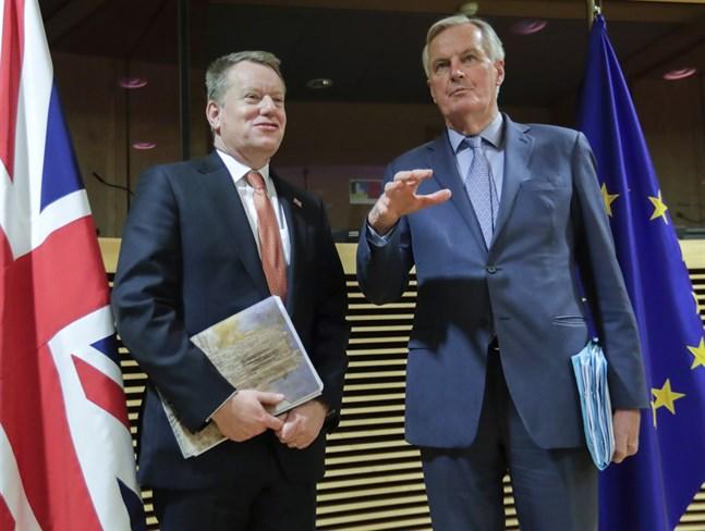 David Frost för Storbritannien och Michel Barnier för EU är chefsförhandlare i samtalen om framtida samarbeten mellan Bryssel och London.