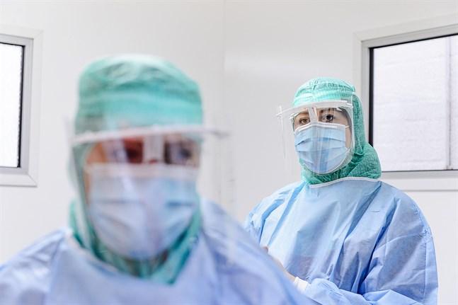 Arkivbild: coronatest på Malmska sjukhuset.