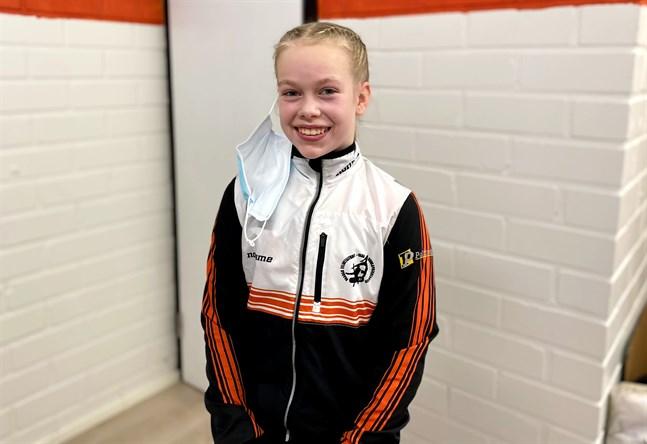 Matilda Nikkola tävlade utan motstånd i helgen, men är nöjd ändå.