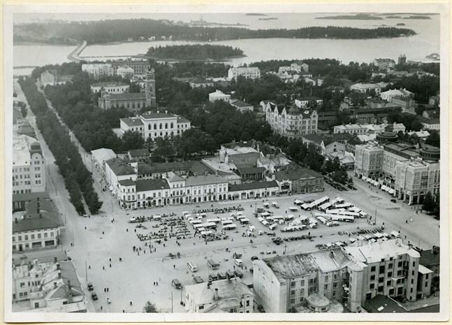 Så här såg det ut innan kvarteret med Rewell Center fanns. Bilden av Vasa torg är tagen 1933. Fotografen är okänd.