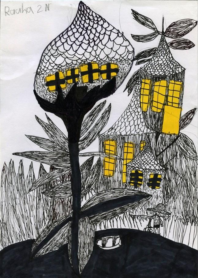 Teckningen av Rauha Talvitie fick pris i tävlingen Snälla hjältar. Rauha går i årskurs 2 i Åshöjdens skola i Helsingfors.
