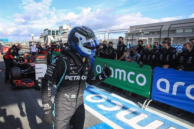 Valtteri Bottas tog hand om pole position på Nürburgring på lördagen.