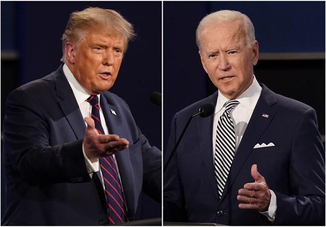 Presidentkandidaterna i debatten som hölls den 29 september.