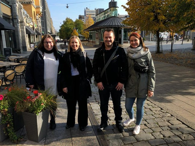 Projektteamet består av Tuulikki Pöllänen, Sonja Store, Petteri Kalliola och Janika Orre-Hänninen.