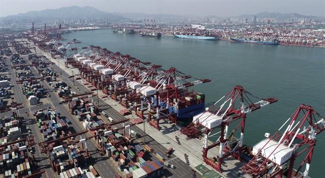 Kinas handel med omvärlden ökade i september jämfört med samma månad i fjol. Arkivbild.
