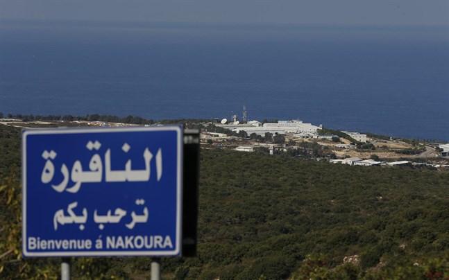 FN:s fredsbevarande styrkors bas i Naqoura i södra Libanon, nära gränsen mot Israel.