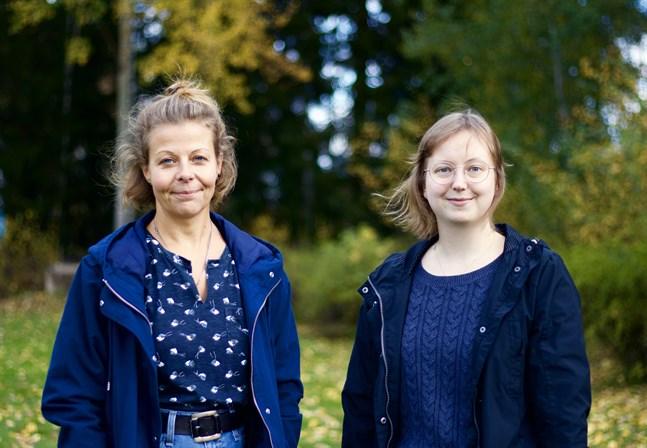 Anette Rönnlund-Nygård (till vänster) startade Ninni-verksamheten för femton år sedan. Maria Hagberg växte upp med en missbrukande förälder.