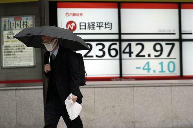 Nikkei225-index föll något på torsdagsmorgonen. Bild från i fredags.