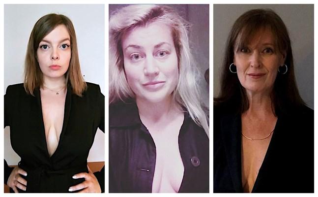 Rebecca Åkers, Anna Övergaard och Wivan Nygård-Fagerudd är några av de finländare som valt att stöda statsminister Sanna Marin genom att publicera en bild på sig själv iklädd endast kavaj.