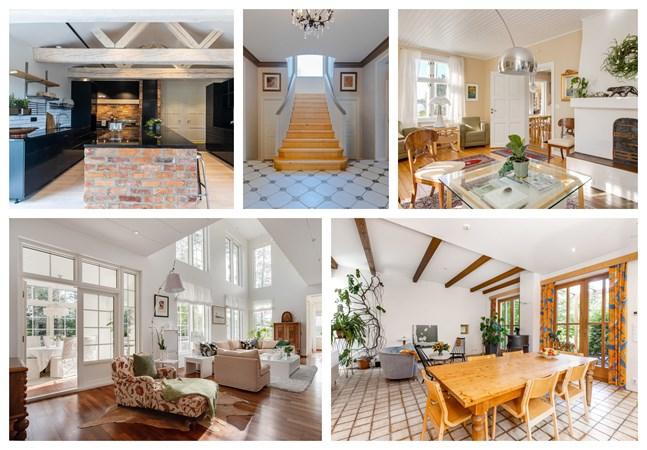 Några av de tio dyraste husen i Vasa just nu.