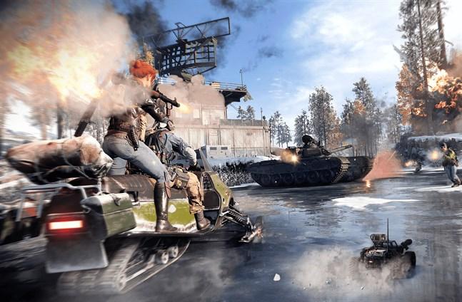 """""""Call of duty: Black ops cold war"""" innehåller så klart ett fartfyllt flerspelarläge också. Pressbild."""
