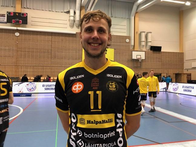 Lagkaptenen Antti Leppälä var på fint spelhumör och prisbelönades i Tiikerit.
