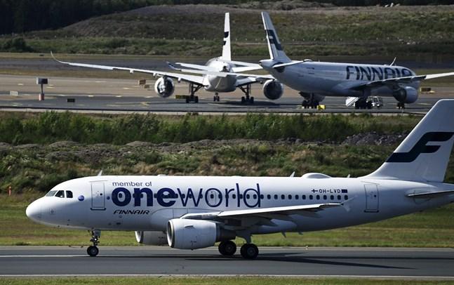 Finnairs flygplansflotta står på marken så länge som det inte finns efterfrågan.