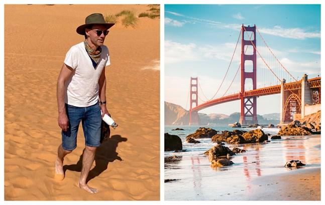 San Fransisco med den karakteristiska bron Golden gate. Kalifornien har en stark tradition att rösta demokratiskt. I årets val stöder Jan Fredrik Simons demokraternas Joe Biden.