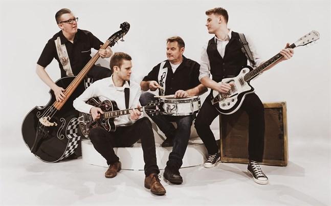 Danny T & The Sirens är (från vänster) Daniel Karlsson, Tobias Hanner, Kenneth Sirén och Jonas Sirén.