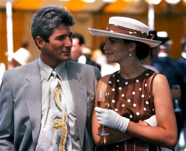 """Richard Gere och Julia Roberts i filmen """"Pretty Woman"""" från 1990. Pressbild."""