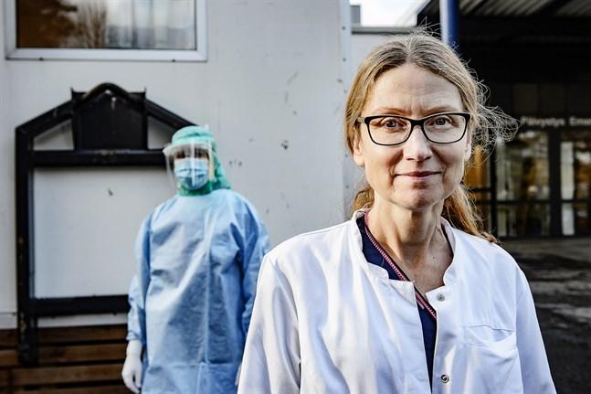 Arkivbild: Smittskyddsläkare Johanna Gripenberg vid Malmska i Jakobstad.
