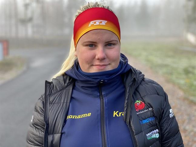 Nicole Sten genomförde Vasaloppet på plats. De övriga tre långloppen genomförde hon på distans runtom i regionen.