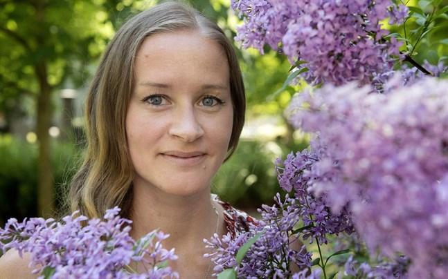 """Stina Jackson är en av fem som nominerats till Årets bästa kriminalroman, för romanen """"Ödesmark""""."""