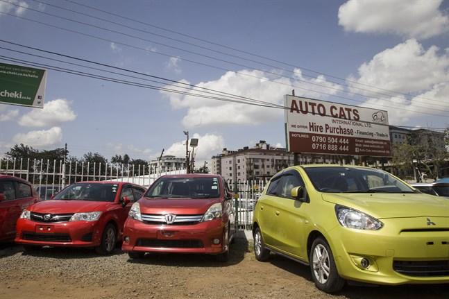 Försäljning av begagnade bilar i Nairobi, Kenya. Arkivbild.