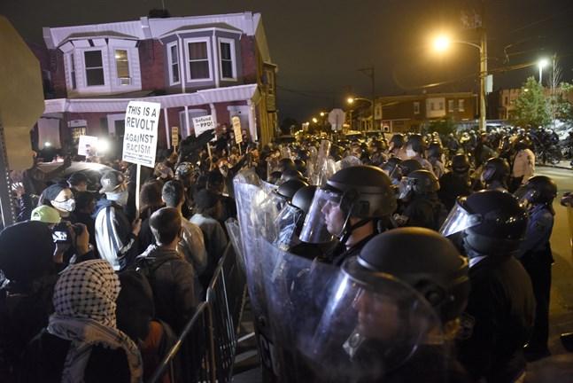 Protester i Philadelphia.