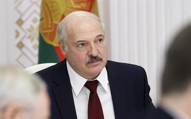 Belarus president Aleksandr Lukasjenko under ett möte i huvudstaden Minsk den 27 oktober.