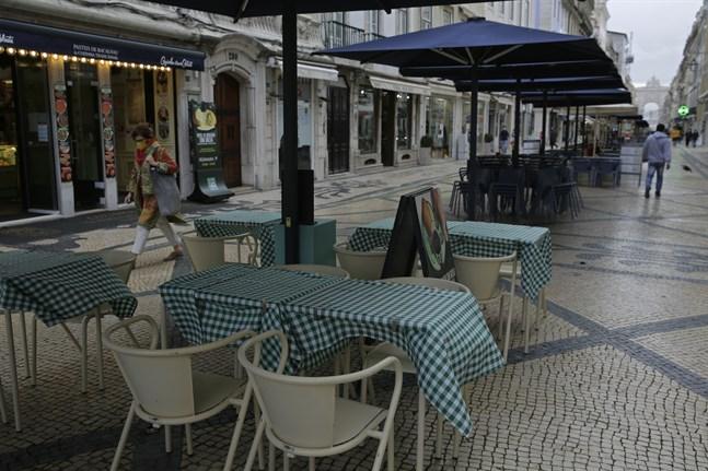 Lugnt på gatorna i Lissabon tidigare i veckan.