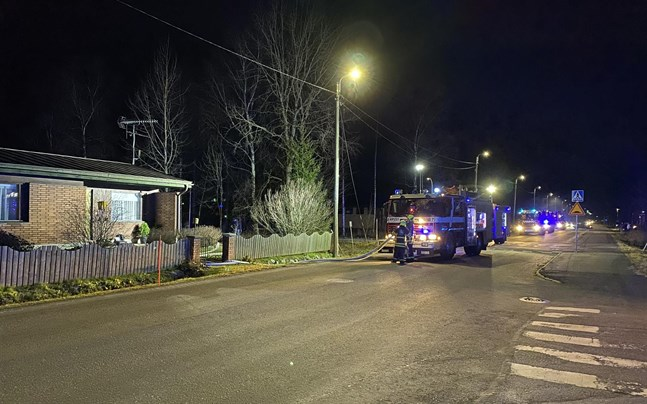 Räddningsverket ryckte ut till en brand på Baggholmsvägen.