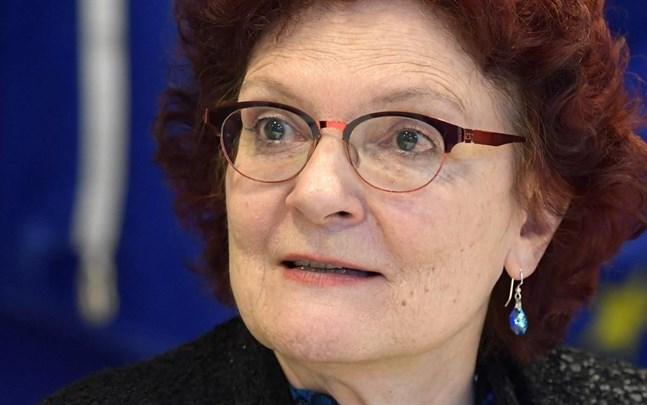 Andrea Ammon, generaldirektör för EU:s smittskyddsmyndighet ECDC, under onsdagens seminarium om hur coronavirusutbrottet påverkar Europa.