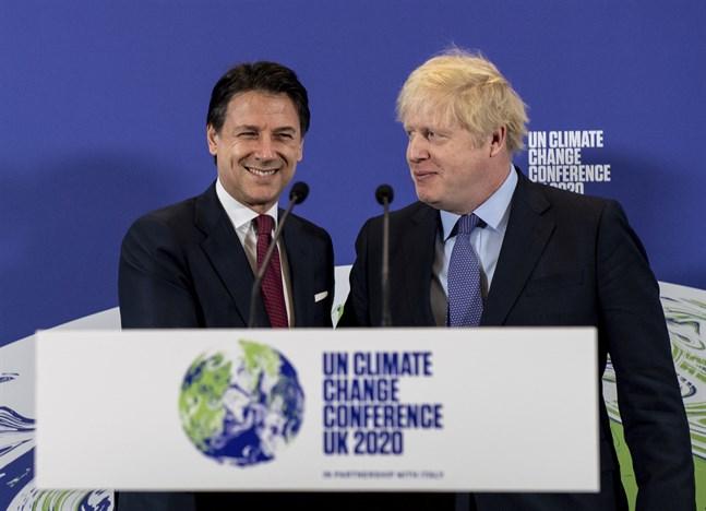 Italien och Storbritannien är värdländer för nästa stora klimatmöte, COP26. Ländernas premiärministrar Giuseppe Conte och Boris Johnson presenterade sina planer i februari, innan pandemin tvingade dem att ställa in mötet. Arkivbild.
