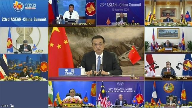 Det pågående Asean-toppmötet är delvis virtuellt. Bild från i torsdags.