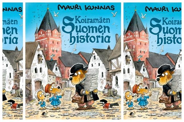 """Våren 2021 sätter Karleby stadsteater upp den finskspråkiga pjäsen """"Koiranmäen Suomen historia"""" som grundar sig på Mauri Kunnas populära bok om Finlands svenska historia. På finska gavs boken ut av Otava."""