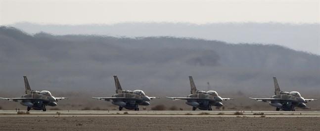 Israeliska F-16-plan. Arkivbild.