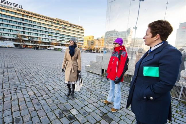 Marie Sjölind från Österbottens förbund, Carola Harmaakivi från KulturÖsterbotten och Laila Schauman från Visit Vasa hoppas att evenemangsarrangörer våga ordna digitala event.