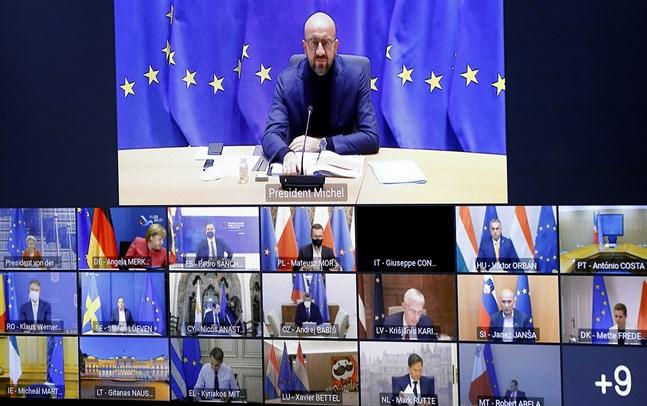 EU:s stats- och regeringschefer håller under torsdagskvällen ännu ett webbtoppmöte för att diskutera coronaläget, men också blockeringen av EU:s långtidsbudget och coronastöd. Arkivfoto.