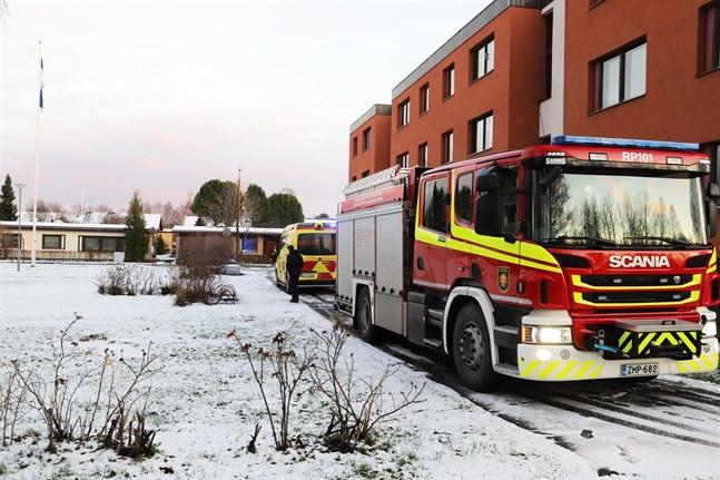 Brandkåren ryckte ut till Korsnäståget.