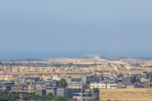 Israel har genomfört en flygattack mot mål i Gaza. Arkivbild.