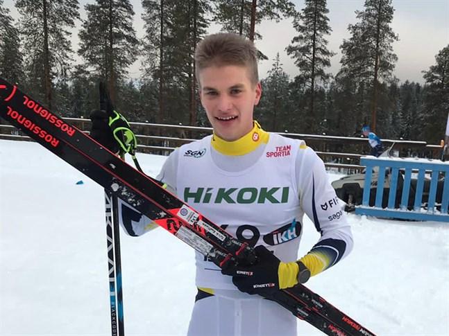Patrik Kuuttinen kom i mål som 53:e man i herrklassen i Taivalkoski.