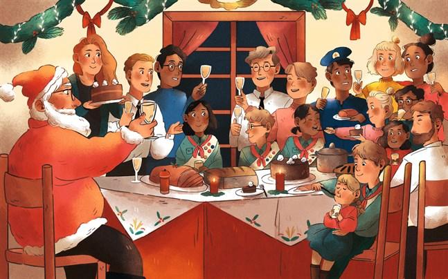 """Julen kan påminna oss om hur det är att leva i en gemenskap, menar Francesca Cavallo, som har skrivit boken """"Tomtarna på femte våningen""""."""