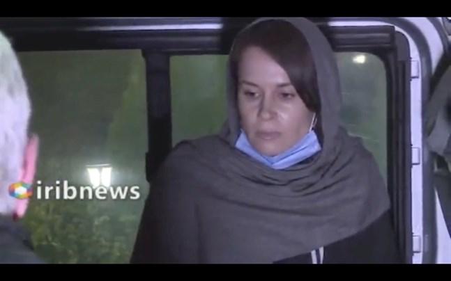 Bilden är hämtad från en video från iransk statlig tv och visar Kylie Moore-Gilbert i Teheran.