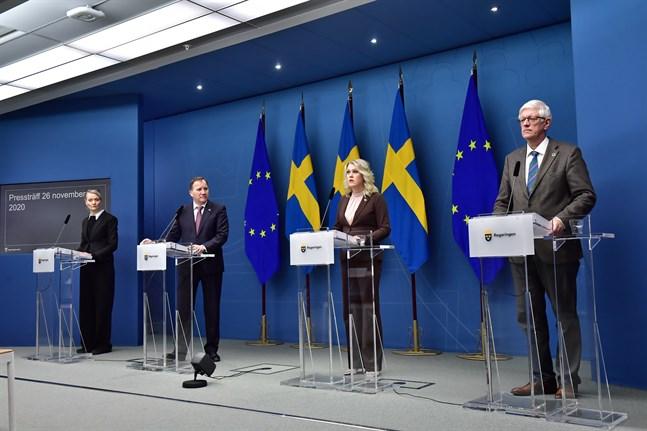 Nytt scenario om coronasmittspridningen presenterades av Folkhälsomyndigheten på en pressträff med statsministern.
