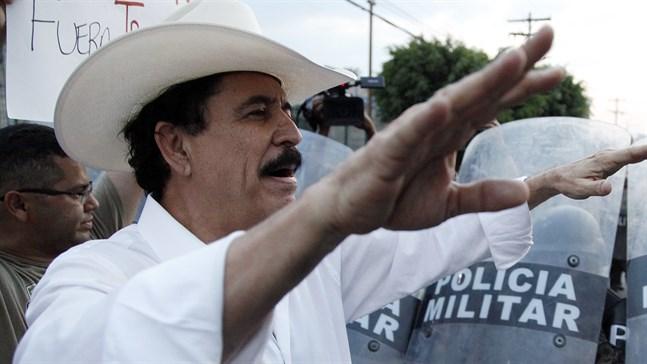 Honduras tidigare president Manuel Zelaya. Arkivbild.