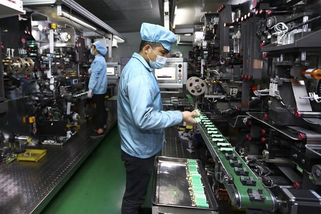 Kinas industri återhämtade sig ytterligare i november. Arkivbild.