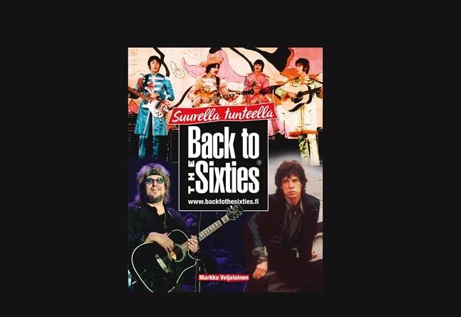 """Så här ser omslaget ut till Markku Veijalainens bok """"Suurella tunteella. Back to the Sixties"""" som kom ut på readme.fi i oktober 2020."""